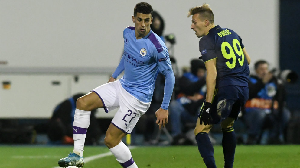 Joao Cancelo con el Manchester City. (AFP)