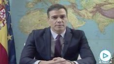 Pedro Sánchez, presidente del Gobierno en funciones, se dirige por Navidad a las tropas militares en el exterior.