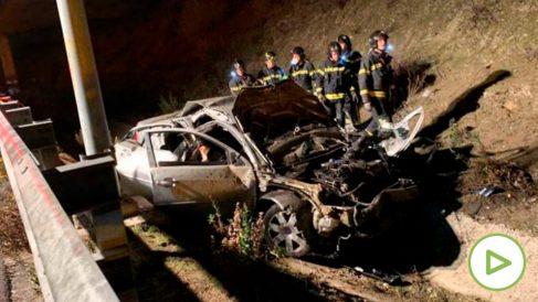 Accidente de tráfico en la M50.