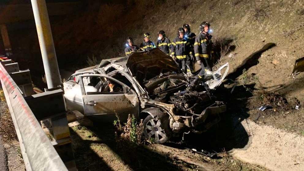 Un accidente de tráfico en Madrid.