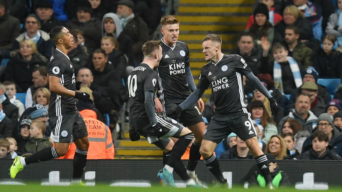 El Leicester será uno de los protagonistas del Boxing Day 2019, al enfrentarse al Liverpool (Getty).
