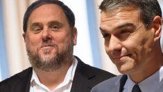 Pedro Sánchez y Oriol Junqueras.