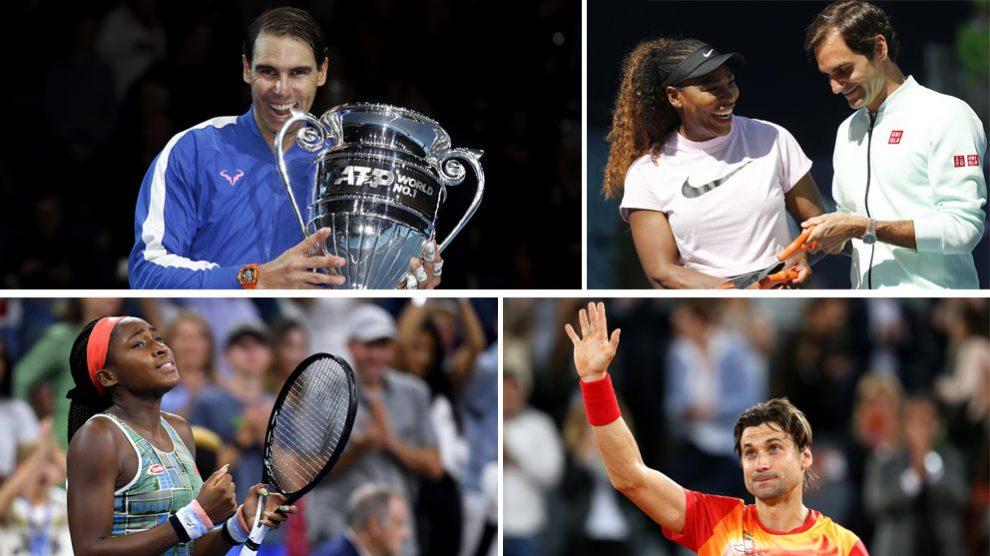 Algunos de los protagonistas del tenis en 2019 (ATP y Getty)