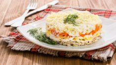 Timbal de puré de patata con verduras