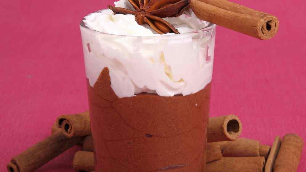 Receta de copa de chocolate y nata