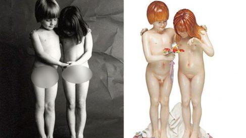 Fotografía de Jean-François Bauret y escultura de Jeff Koons