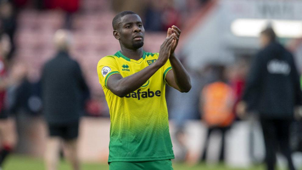 Ibrahim Amadou con el Norwich. (@NorwichCityFC)