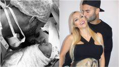 Jesé Rodríguez, con su bebé y su pareja.