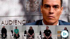 El presidente Pedro Sánchez y varios CDR acusados de terrorismo.