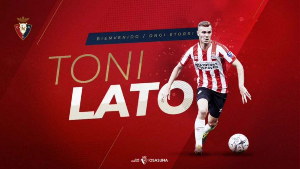 Toni Lato, nuevo jugador de Osasuna (Club Atlético Osasuna)