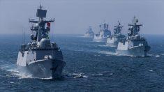 Un simulacro conjunto naval de Rusia y China en Zhanjiang,