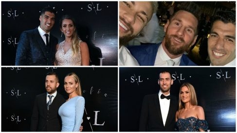 Las mejores fotos del aniversario de Luis Suárez y Sofía Balbi.