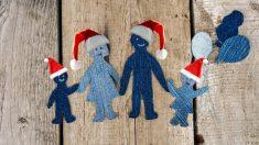 Los niños disfruten de las vacaciones de Navidad