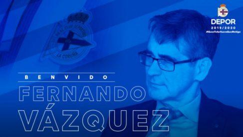 Fernando Vázquez, nuevo entrenador del Deportivo (Real Club Deportivo)