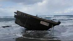 Imagen del barco fantasma aparecido en Japón