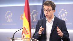 El líder de Más País, Íñigo Errejón, en una rueda de prensa en el Congreso de los Diputados. (Foto: Europa Press)