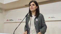 La portavoz de ERC, Marta Vilalta, tras la reunión de la Ejecutiva del partido. (Ep)