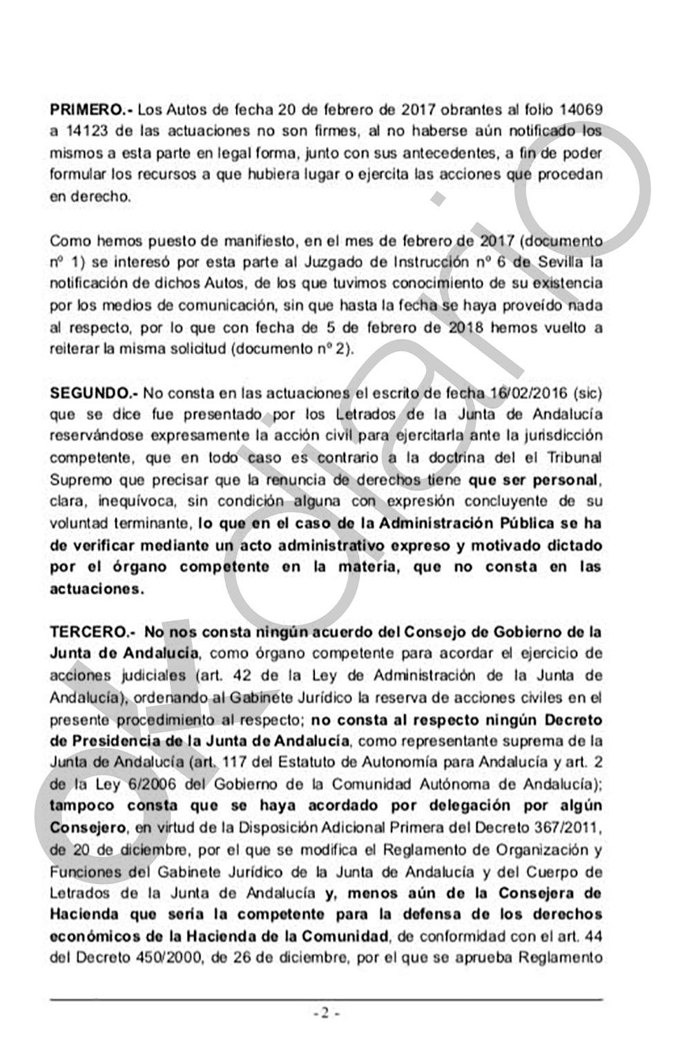 Informe de los abogados del PP.