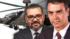 Mohamed VI y Pedro Sánchez.