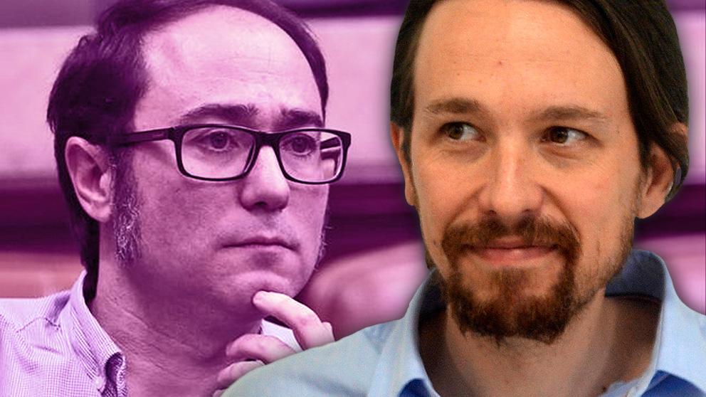 Pablo Iglesias y Daniel de Frutos, tesorero de Podemos.
