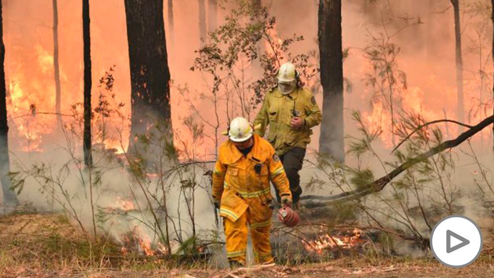 Incendio en Australia.