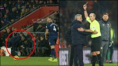 Mourinho vio la amarilla ante el Southampton.