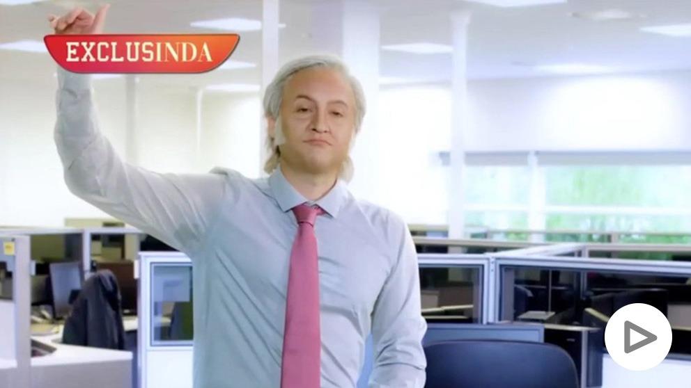 El actor Max Marieges, caracterizado de Eduardo Inda en el programa de José Mota.