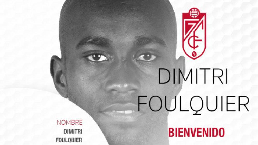 Dimitri Foulquier, nuevo jugador del Granada. (Granada Club de Fútbol)