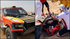 Kolomy abandona el Dakar tras el aparatoso accidente.