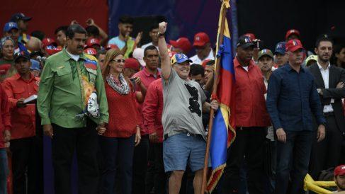 Maradona suena para el banquillo de Venezuela. (AFP)