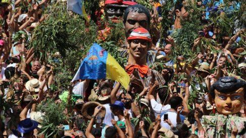 La Rama de Agaete es una fiesta muy reconocida en Canarias