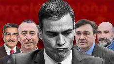 Pedro Sánchez y los líderes de partidos minoritarios.