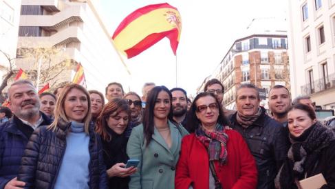 Begoña Villacís en la manifestación de Colón @Twitter