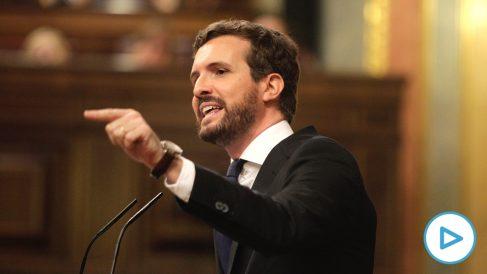 Pablo Casado, en la sesión de investidura. (Foto: Francisco Toledo)