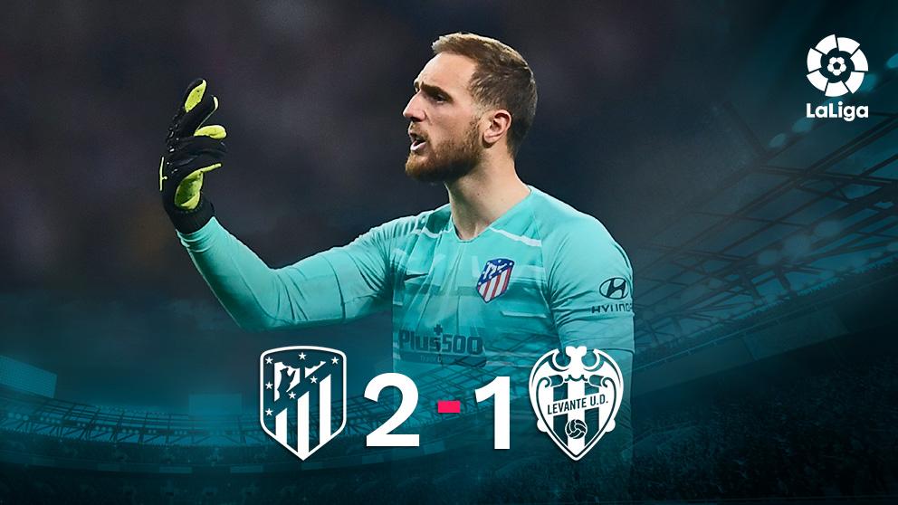 El Atlético venció al Levante en el Metropolitano.
