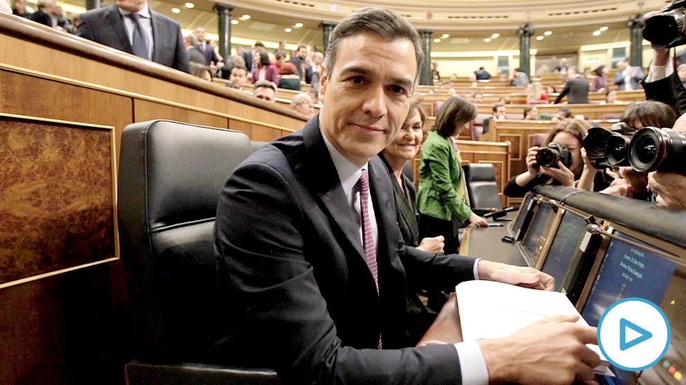 Pedro Sánchez, en la sesión de investidura. (Foto: Paco Toledo)