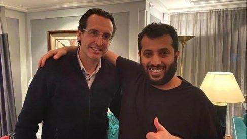 Unai Emery con Turki Al-Sheikh. (@UnaiEmery_)