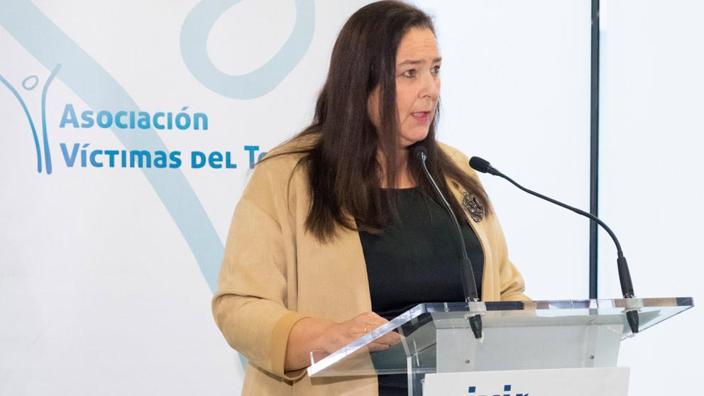 La preisdenta de la AVT, Maite Araluce, en Bilbao. foto: EFE