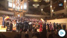 Homenaje a la bandera de España en el Auditorio Nacional.