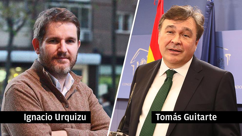 Ignacio Urquizu (PSOE) y Tomás Guitarte (Teruel Existe)