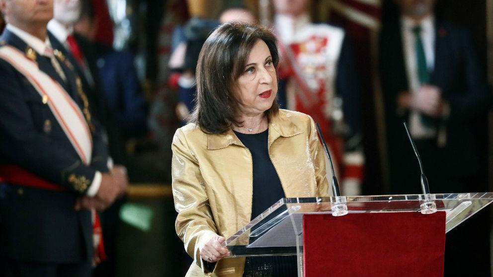 La ministra de Defensa, Margarita Robles, durante su discurso con motivo de la Pascua Militar. (EP)