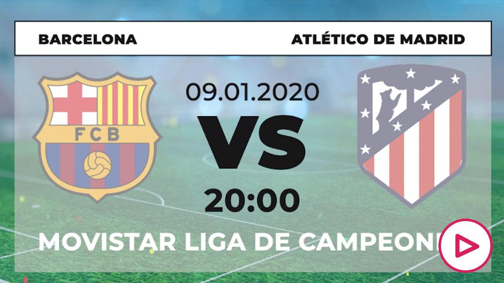 Supercopa de España: Barcelona – Atlético | Horario del partido de fútbol de Supercopa de España.
