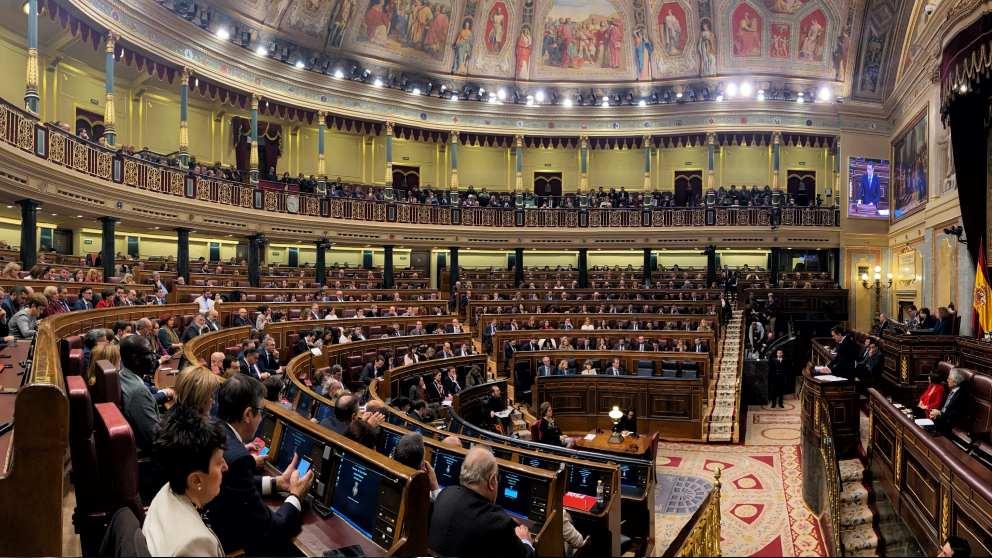 Una imagen del Congreso de los Diputados durante el debate de investidura