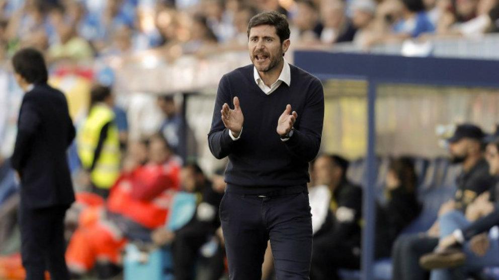 Víctor Sánchez del Amo como entrenador del Málaga (Málaga Club de Fútbol)