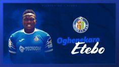 Oghenekaro Etebo, nuevo jugador del Getafe (Getafe Club de Fútbol)