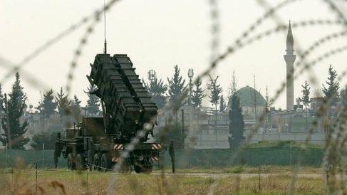 Un lanzador de misiles Patriot en Adana (Turquía).