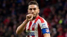 Koke celebra un gol con el Atlético. (AFP)