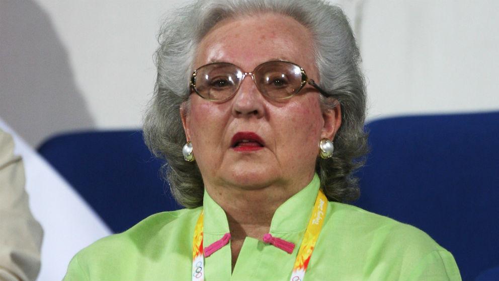 Pilar de Borbón durante los Juegos Olímpicos de Pekín 2008. (Getty)