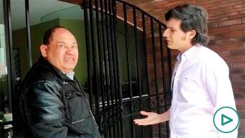 Carlos Romero, ex ministro de Evo Morales, tras ser localizado por OKDIARIO.