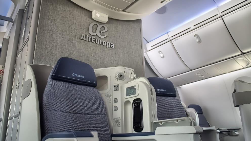 La clase Business del avión de Air Europa que viaja entre Madrid y Tel Aviv.